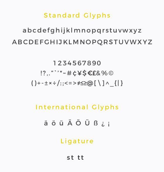 standard font explaination