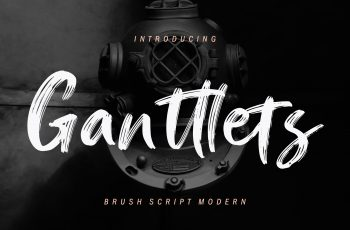 Ganttlets Brush Script